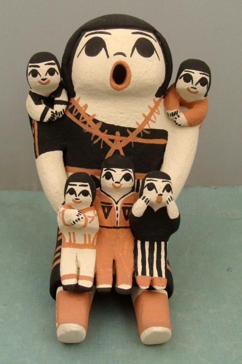 Mary R. Herrera Indian Storyteller Pueblo Figurine