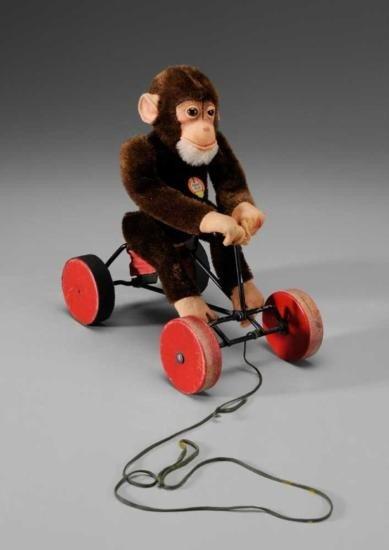 MWF1307 Steiff Monkey Pull Toy German/Austrian early 2