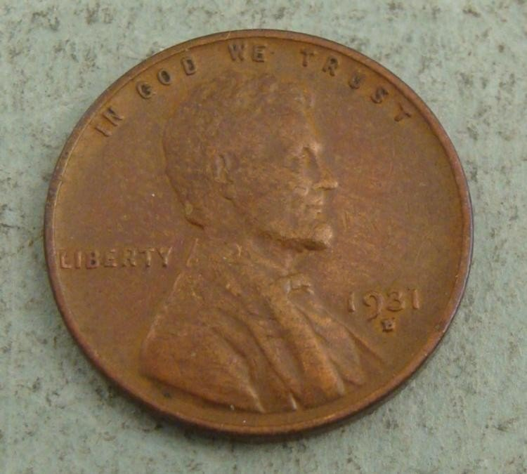 1931-D Lincoln Cent Penny -Very Hi Grade, Some Luster