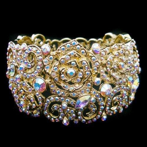 Swarovski Crystal Rose Bangle Bracelet  mwf2139