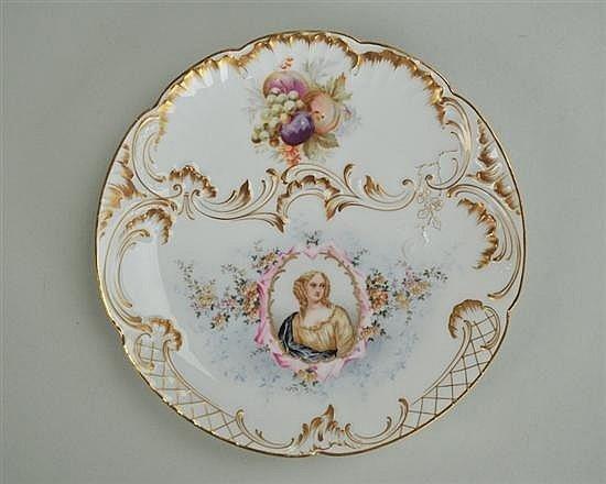 C.T. Germany Portrait Plate of Anne d Autriche