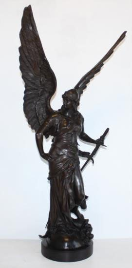 Enormous Bronze Sculpture Aurora Winged Victory God