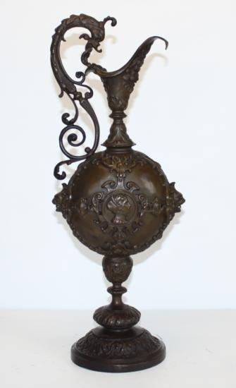 Bronze Sculpture Ornate Urn