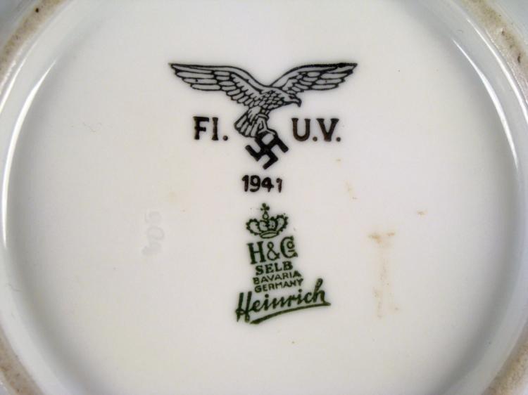ORIGINAL PORCELAIN NAZI LUFTWAFFE SOUP BOWL 1941 H & CO