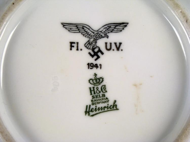 ORIGINAL PORCELAIN NAZI LUFTWAFFE SOUP BOWL 1941 H & CO