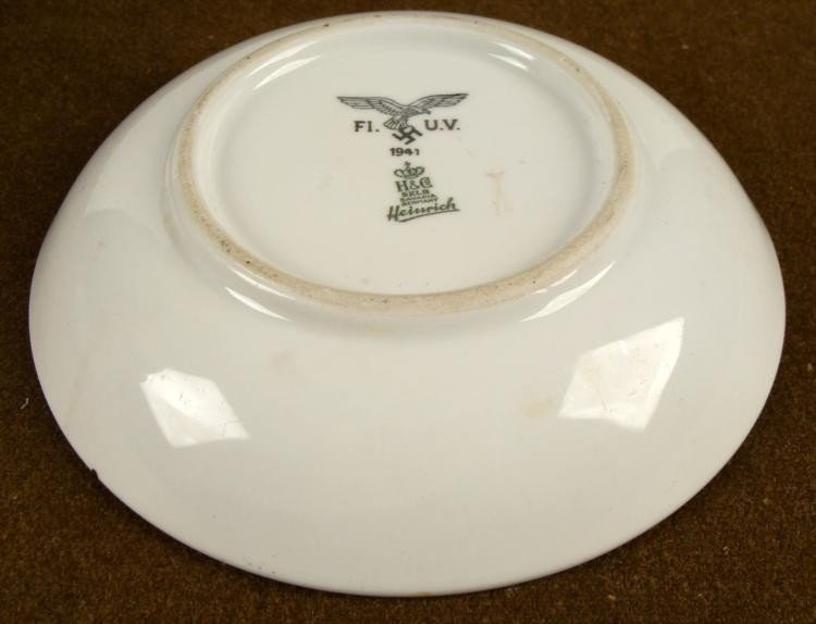 ORIGINAL PORCELAIN NAZI LUFTWAFFE SOUP BOWL 1941 H & CO - 3