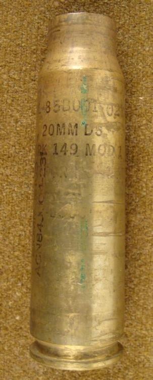 U.S. WWII SHELL 20MM MARK 149-MOD 1
