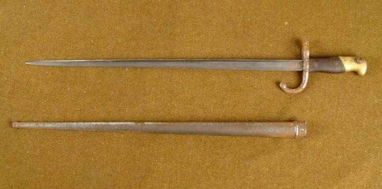 M1874 EPEE BAYONET ST ETIENNE ARSENAL MARCH 1877 - 2