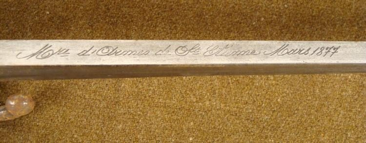 M1874 EPEE BAYONET ST ETIENNE ARSENAL MARCH 1877 - 5