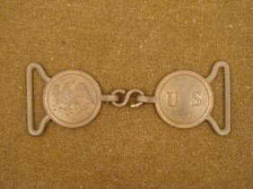 1832 U.S. ARMY SWORD BELT PLATE-BRASS-2 PC US AND EAGLE