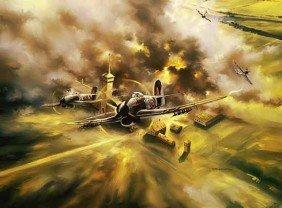 Aviation Art Rumbold's Renegades Poole Typhoon