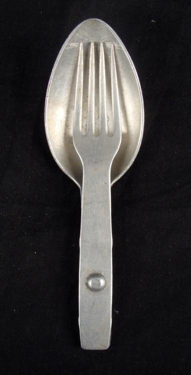 ORIGINAL NAZI 1940 FIELD FOLDING SPOON AND FORK