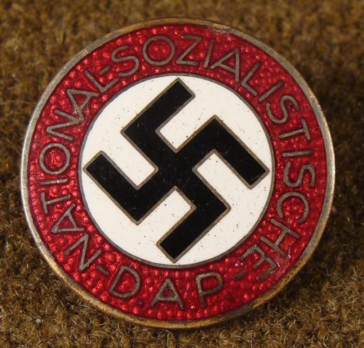NAZI PARTY ORIGINAL BADGE NSDAP FOR MEMBERS