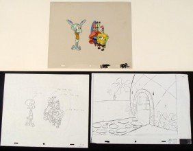 Animation Homecoming Original Art Spongebob Cel Drawing