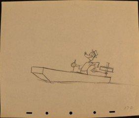 Disney Goofy Original 1939 Animation Production Drawing