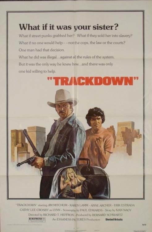 Trackdown Original 1 Sh Movie Poster James Mitchum