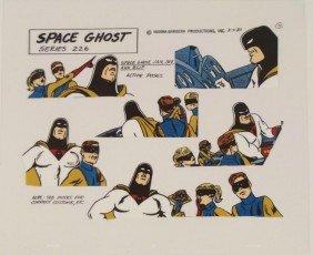 Space Ghost Jan Jace Blip Orig Model Cel Animation 1980