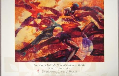 Paul Goodnight FEET DON'T FAIL ME 1996 Olympics Poster