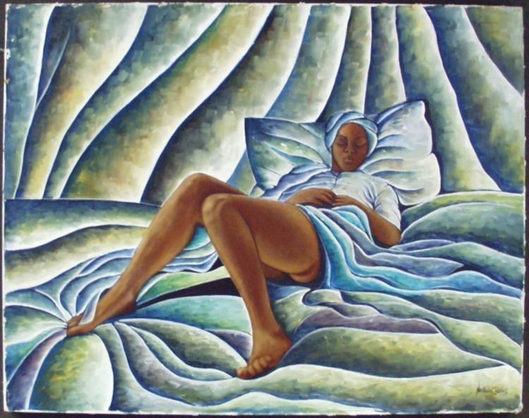 Nathaniel Barnes: Reclining Woman