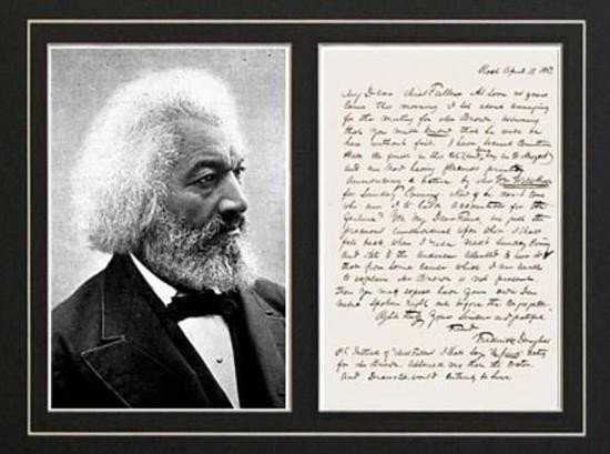 FREDERICK DOUGLASS Signed letter autograph photo