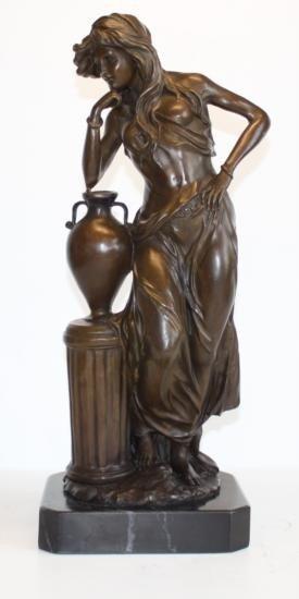 Elegant Bronze Sculpture Athena Greek Goddess