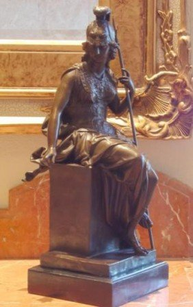 Alluring Bronze Sculpture British Military Warrior