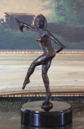 Lovely Bronze Sculpture Art Deco Dancer