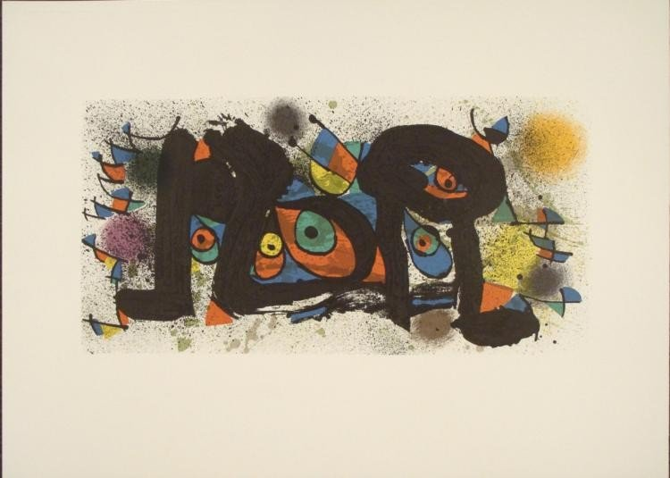 Joan Miro : Sculptures Abstract Art Print