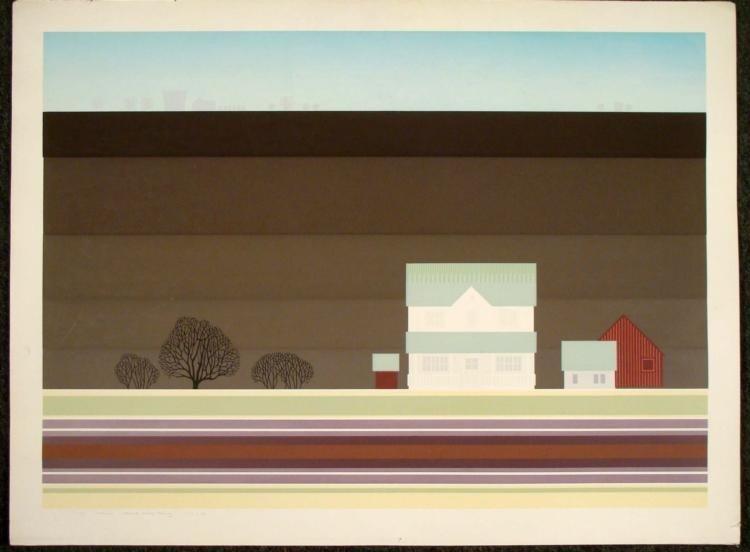 Steve Horan Signed Art Print Plowed Fields Rising
