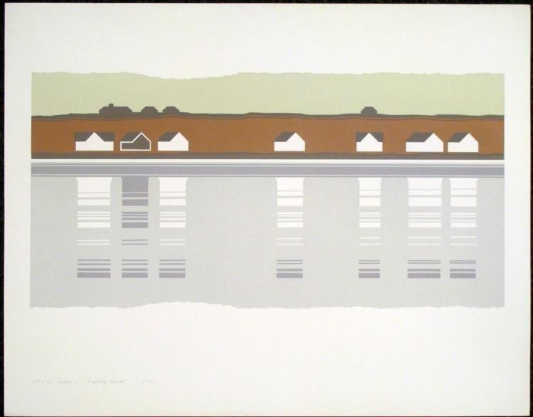 Steve Horan Signed Modern Landscape Print Fisher's Bank