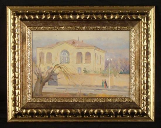 Alexander Gevorkyan Original Oil Painting -Building