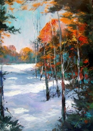 Forest Snow By Schofield Oil 24X18