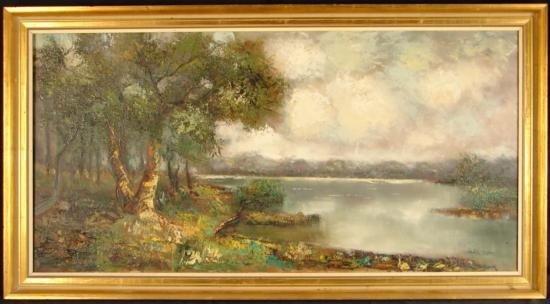 BELA BODO Signed, Framed Oil Painting Impressionist