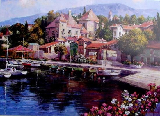 Hidden Harbor by Ponti Giclee 24 x 32 Signed/Numbered