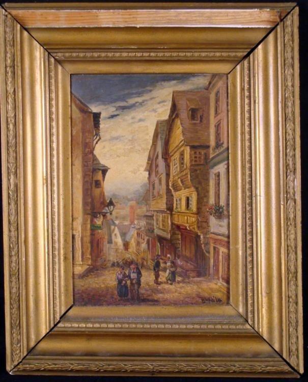 David Burliuk Original Landscape Painting Russian