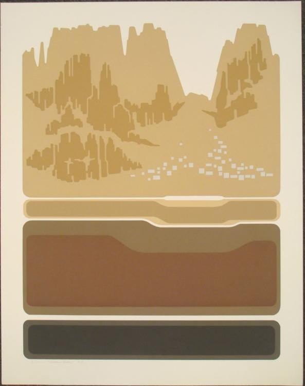 Steve Horan Signed Art Print Golden Butte Colorado