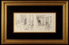 Jacques Villon Orig Print Composition Interieure Frmd