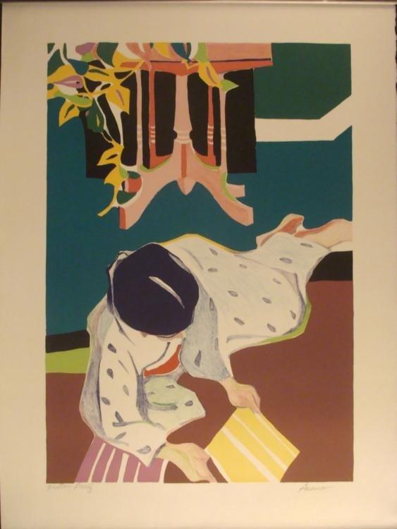 Tadashi Asoma Signed Art Print Printers Proof 1970s