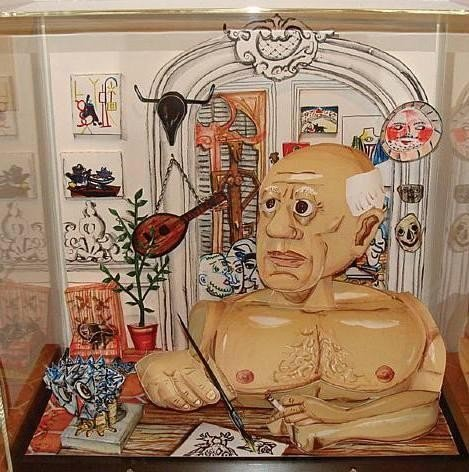 Red Grooms Signed Picasso 3-D Litho Print Sculpture