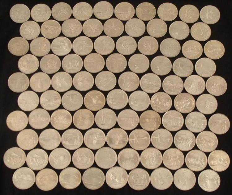 Near Complete UNC U.S. State Quarter Set 95 Coins