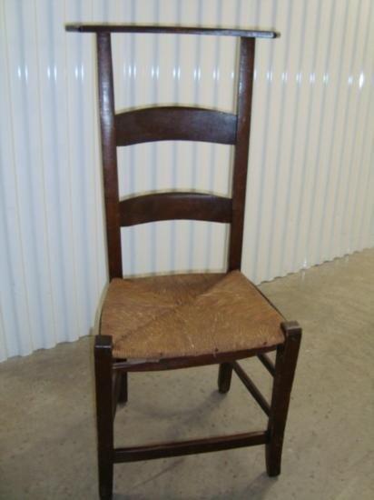 French prayer chair with rush seat circa 1870