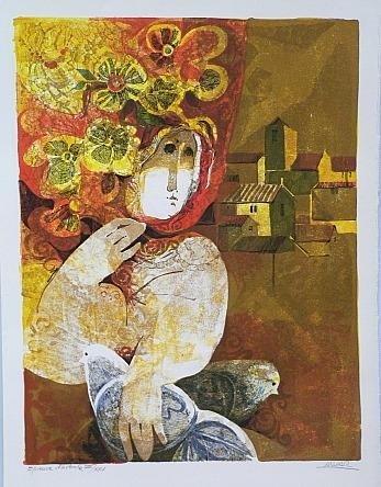 Couple Avecs Fleurs by Sunol Alvar S/N