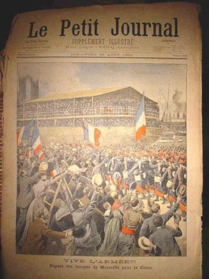 Authentic original antique French newspaper dated 1900