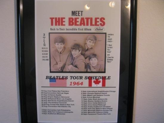 Meet The Beatles USA/Canada 1964 Tour Schedule