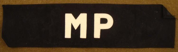 "WWII U.S. ""MP"" MILITARY POLICE ARMBAND WOOL"