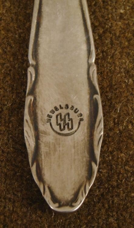 NAZI SS FORK ORIG MARKED SS WEWELSBURG QUARTERS-RARE