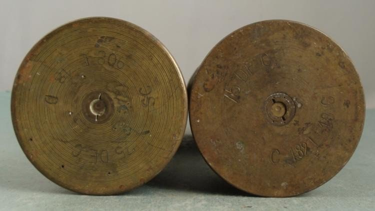 PAIR OF WWI U.S. DOUGHBOY TRENCH ART-SHELLS -FRANCE - 4