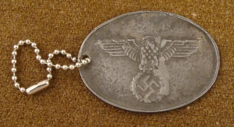 NAZI GESTAPO ID DISC GEHEIME STAATSPOLIZEI NUMBER 1204