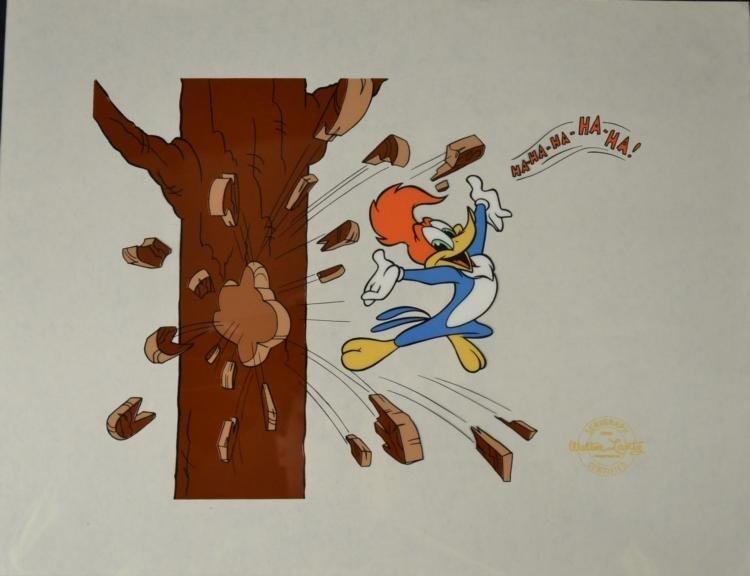 Woody Woodpecker Walter Lantz Cartoon Animation Sericel