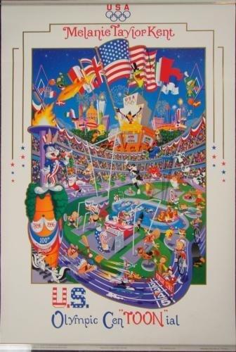 Melanie Taylor Kent US OLYMPICS CENTOONIAL 1996 Poster
